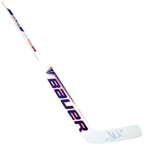 Henrik Lundqvist Signed NY Rangers Game Model Bauer Hockey Goalie Stick Steiner