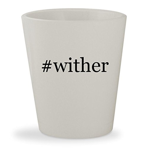 Price comparison product image #wither - White Hashtag Ceramic 1.5oz Shot Glass