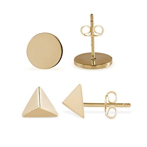 stud-earrings-14k-white-rose-yellow-gold-pyramid-or-round-studs-earrings-for-women-teen-girls-kids-c