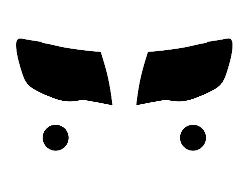 Rvinyl Rtint Headlight Tint Covers for Toyota Tacoma 2005-2011 - Chameleon Smoke