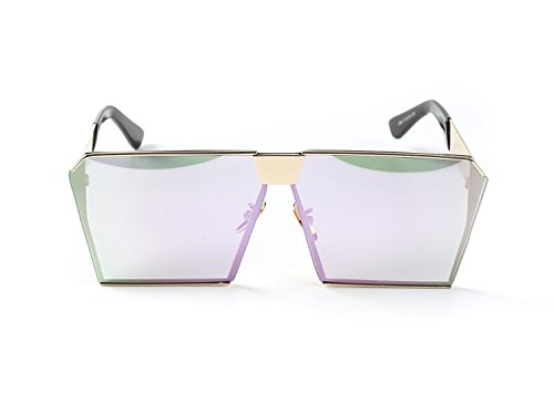 Simplee Unisex Mens Womens Oversized Square Sunglasses Metal Frame Flat Lens Glasses - Sunglasses 1000 Cats