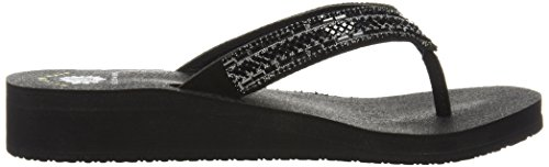 Toscani Black Women's Medium Flip Flop Black Yellow Box E0q06