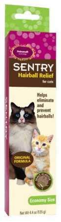 Sentry Hairball Relief for Cats,Malt Flavor,4.4 Ounces