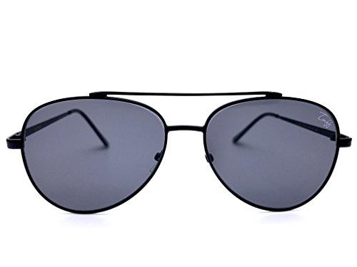 Tuff Sunglasses - Monaco - Mirrored Aviator Flat Lens Metal Frame Oversized Aviator Sunglasses 59MM - Sunglasses Tuff