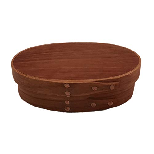 (Shaker Oval Box #00 with Cherry Bands and Reclaimed American Chestnut Top; Hand)