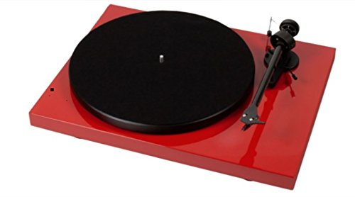 Pro-Ject Debut III Recordmaster Turntable with USB and Phono Preamp- Red (Turntable Preamp With Usb compare prices)