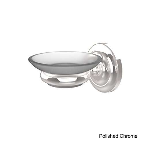 Allied Brass PQN-62-PC Wall Mounted Soap Dish Holder, Polished Chrome