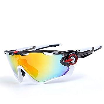 sajio Gafas de Bicicleta polarizadas 5 Grupos de Lentes Mang Gafas de Bicicleta de montaña Deportes