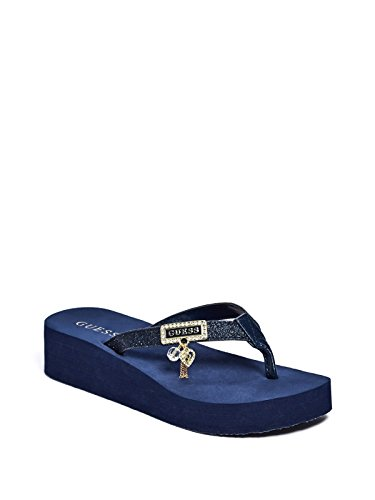 1c02c6d21063 GUESS Factory Women s Myra Wedge Flip Flops - Import It All