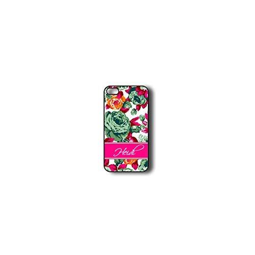 Krezy Case Monogram iPhone 4s Case, Colorful flowers Pattern Monogram iPhone 4s Case, Monogram iPhone 4s Case,...