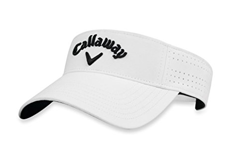 Callaway Golf 2018 Women's Opti Vent Adjustable Visor, White/Black
