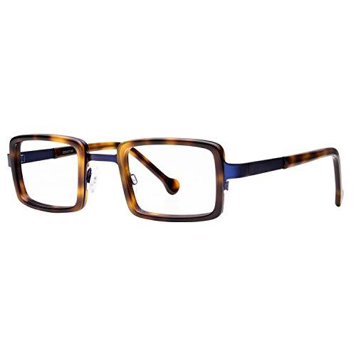 High Definition, Anti Glare, Men's Women's Unisex Rectangular Metal/Acetate Readers eyeOs Model 'SEBASTIAN' Retro - Acetate Mazzucchelli