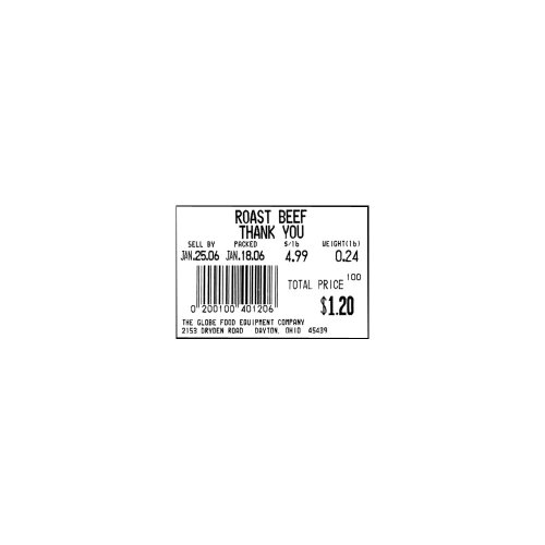 Globe Food Equipment E11 Labels for GSP30A Scale - 12 / CS (Globe Restaurant Supply)
