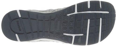 Chaussure Dentraînement Reebok Mens One Trainer 2.0 Acier / Plat Gris / Graphite / Flux Orange / Blanc