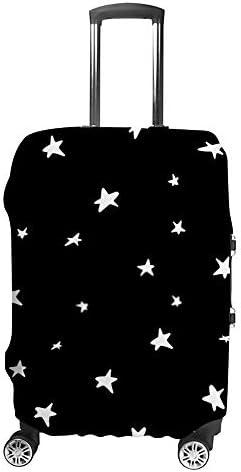 スーツケースカバー 伸縮素材 トラベルダストカバー キャリーカバー 紛失防止 汚れや傷防止 お荷物保護 トラベルダストカバー 着脱簡単 通気性 海外旅行 出張用 便利グッズ 男女兼用 手描きの白い星