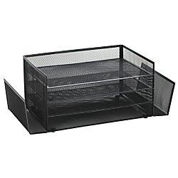 Brenton Studio(TM) Mesh 4-Shelf 2-Sided Desk Sorter, Black by OfficeMax (Image #3)