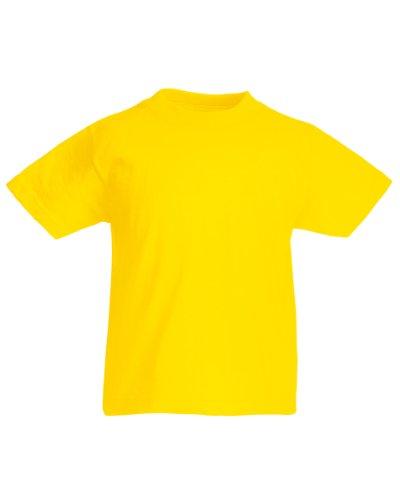 Fruit of the Loom Kinder T-Shirt, kurzarm (7-8-jährige) (Gelb) 7-8-jährige,Gelb