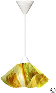 product image for Jezebel Signature Lily Pendant Large. Hardware: White. Glass: Buttercup