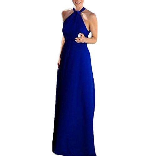 Cóctel Bola Juleya Vestidos de Sexy Alta Mujer Túnicas Vestido Vestido Fiesta Cómodo Largo Asimétrico Maxi Azul Elegante Vestido C Splitted Z74xZwrqd