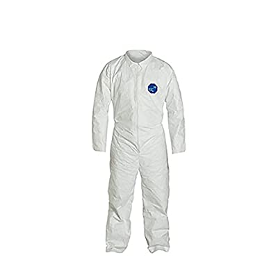 Image of Home Improvements DuPont Tyvek 400 TY120S Disposable Protective Coverall, White, X-Large, pack of 25