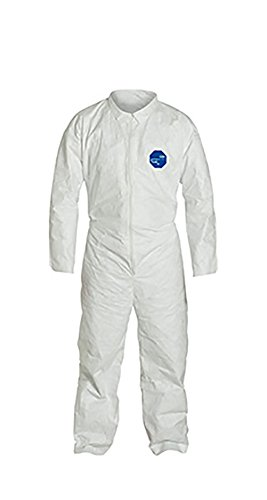 DuPont Tyvek 400 TY120S Disposable Protective Coverall, White, X-Large (Pack of 6)