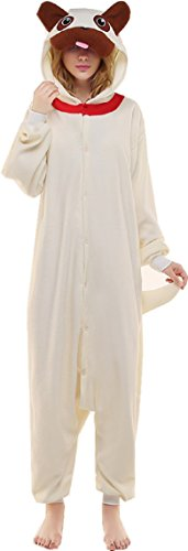[Newcosplay Adult Anime Unisex Pyjamas Halloween  Costume (S, Pug)] (Pug Costumes For Christmas)
