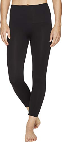 SPANX Women's Look at Me Now Cropped Seamless Leggings Very Black Large 20 ()