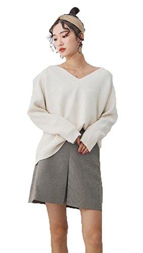 BAJIAN ニットセーター 長袖 レディース トップス カットソー セーター ゆったり 愛され カジュアル 女性 おしゃれ ニットソー セーター 秋