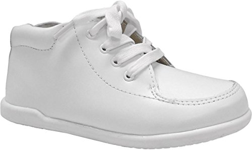 Smart Step by Josmo Unisex Infant/Toddler First Walker Oxford Shoes, White, 7 W US Toddler
