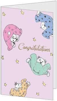 Congratulations Baby Child Birth (5x7) Greeting Card by QuickieCards. Always (Birchcraft Card)