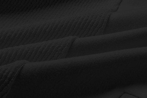 Larga Abrigo Invierno Asimétrico Negro Manga Minetom la Atada La Blazer Coat Cintura a Otoño Chaqueta Outwear Elegante Hem Mujer Cardigans qWBnn08FR