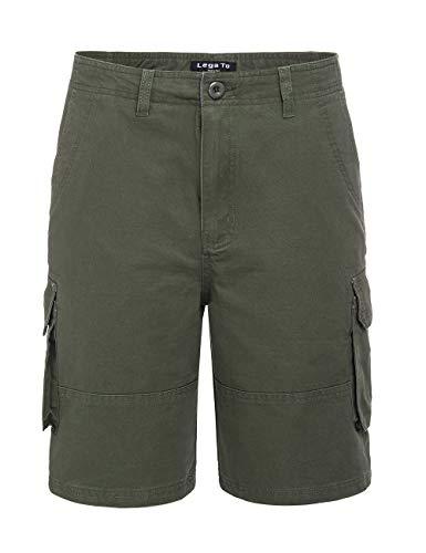 ROBO Mens Summer Cargo Shorts Casual Loose Multi-Pocket Lightweight Shorts