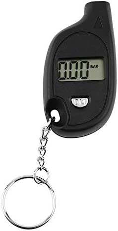 1pc Mini Portable Keychain LCD Digital Car Tire Tyre Air Pressure Gauge Auto Motorcycle Test Tool with cell lithium battery