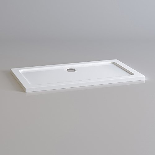 iBathUK Rectangular 1200 x 700 mm Stone Resin Shower Enclosure Slimline Tray