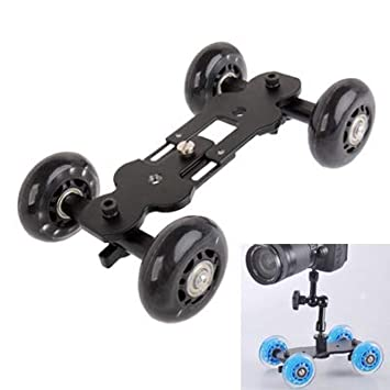ZHAODONG Micro película Floor Table Video Slider Track Dolly Car ...