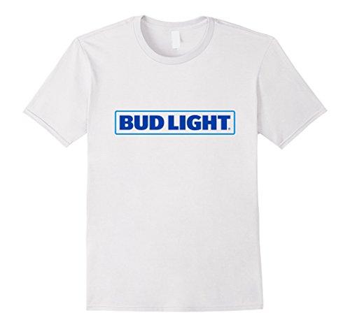 Mens Bud Light Logo T-Shirt Small White Bud Light T-shirt