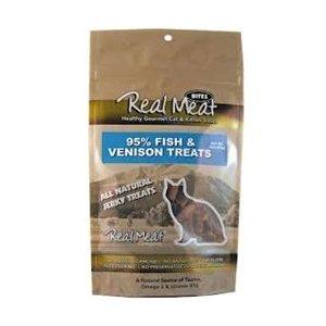The Real Meat Company 828105 Cat Jerky Fish/Venison Treat, - Jerky Cat Treats Real Treats Meat