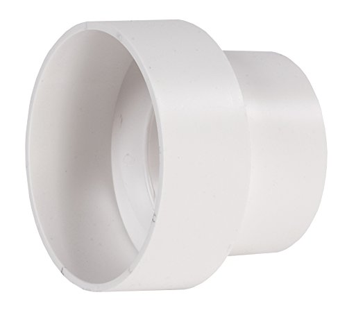 NDS 407 Styrene Reducer Coupling Solvent Weld Fitting (Hub x Hub), 3 by 4-Inch, White