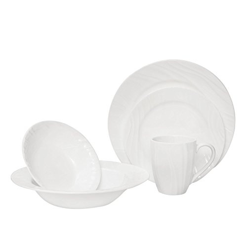 Corelle Boutique Swept Embossed 40 Piece Dinnerware Set (Corelle Embossed Bowl compare prices)