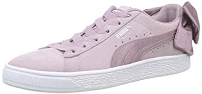PUMA Women's Suede Bow WN's Sneakers, Elderberry-puma White, 6 US