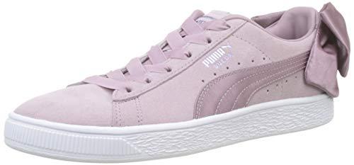 Bud Wn's Bow White Rosa Para peach Puma puma Mujer Suede Zapatillas E8vwxap5q
