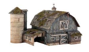Building Kit Woodland Scenics Model - WOODLAND SCENICS PF5190 Rustic Barn HO