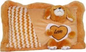 Pikaboo toys Ultra Pillow Dog Face Design -Brown