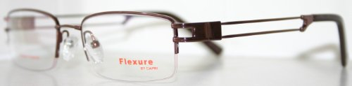 Flexible Fx22 Coffee Brown Men's Titanium Optical Eyeglass - Memory Frames Eyeglass
