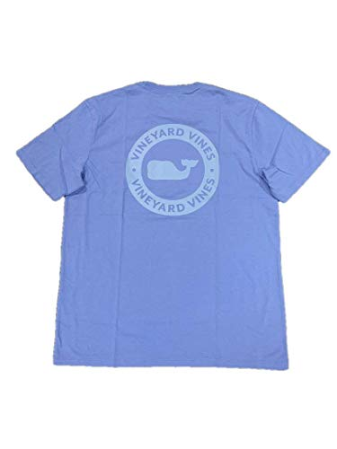Vineyard Vines Men's Short Sleeve Graphic Pocket T-Shirt (Large, Bayside Blue/Whale Dot)