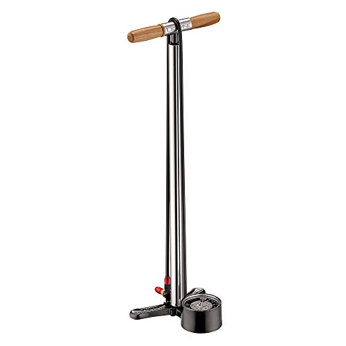 (LEZYNE Alloy Floor Drive Tall Bicycle Floor Pump (Silver/HI Gloss))