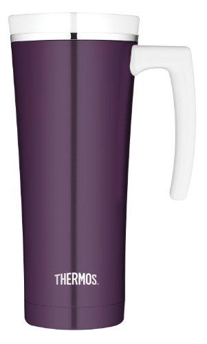 Thermos 16 Ounce Stainless Steel Travel Mug, Plum