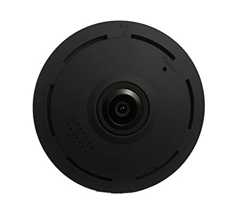 TechAalim Smart Home Security Camera 360 Degree WiFi Panoramic Security Camera Full HD Wireless Fisheye Security Camera Wide Viewing Angle Black For Sale