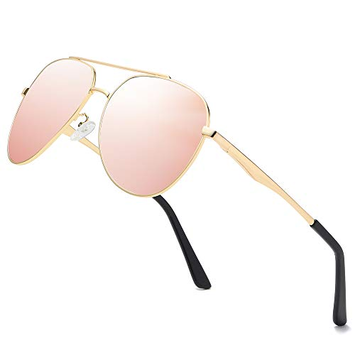 - Premium Military Men Aviator Polarized Sunglasses Women Coating Mirror Sun Glasses for Driving,100% UV
