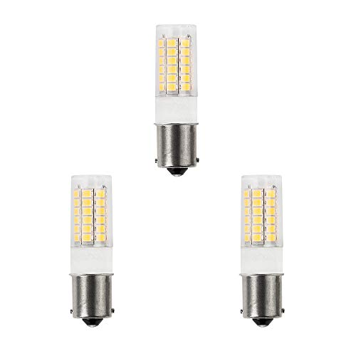 DengTA 1156 1141 BA15S LED Replacement Bulbs for Marine Boat and RV Lights SC Single Bottom Contacts Bayonet Base (3 Pack 3-Watt, Cool White)